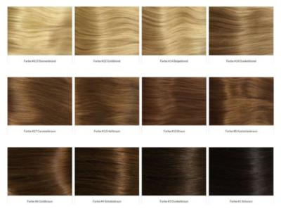 www.hairprincess.de Farbpalette Extensions